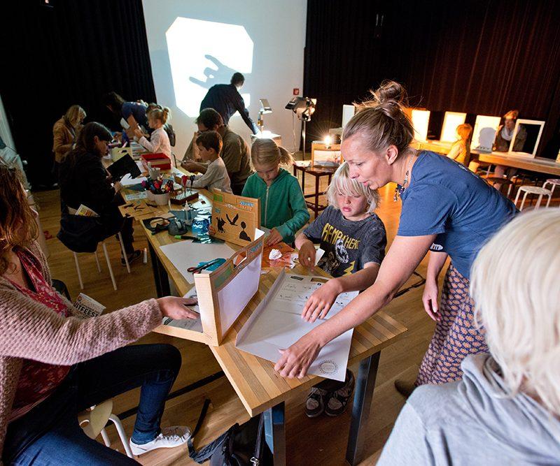 Workshop van vaste bewoner Het Filiaal theatermakers in de kleine studio