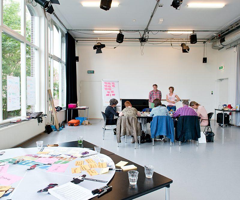Workshop en vergadering in studio west