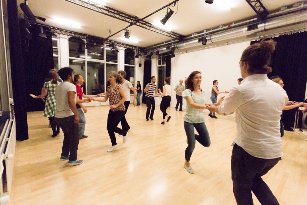 Dansers van Swing in Utrecht in studio oost